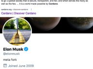 "Elon Musk Hinting at Cardano (ADA) by Changing His Twitter Avatar to a ""Fork in The Road"" ?"